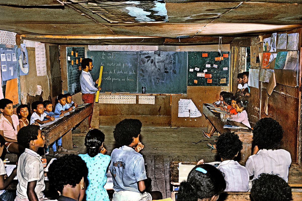 En classe à l'école de Grand Place Cayenne
