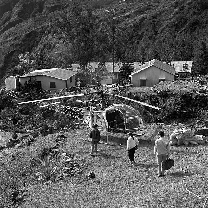 Le retour de la mission de Roche Plate en hélicoptère