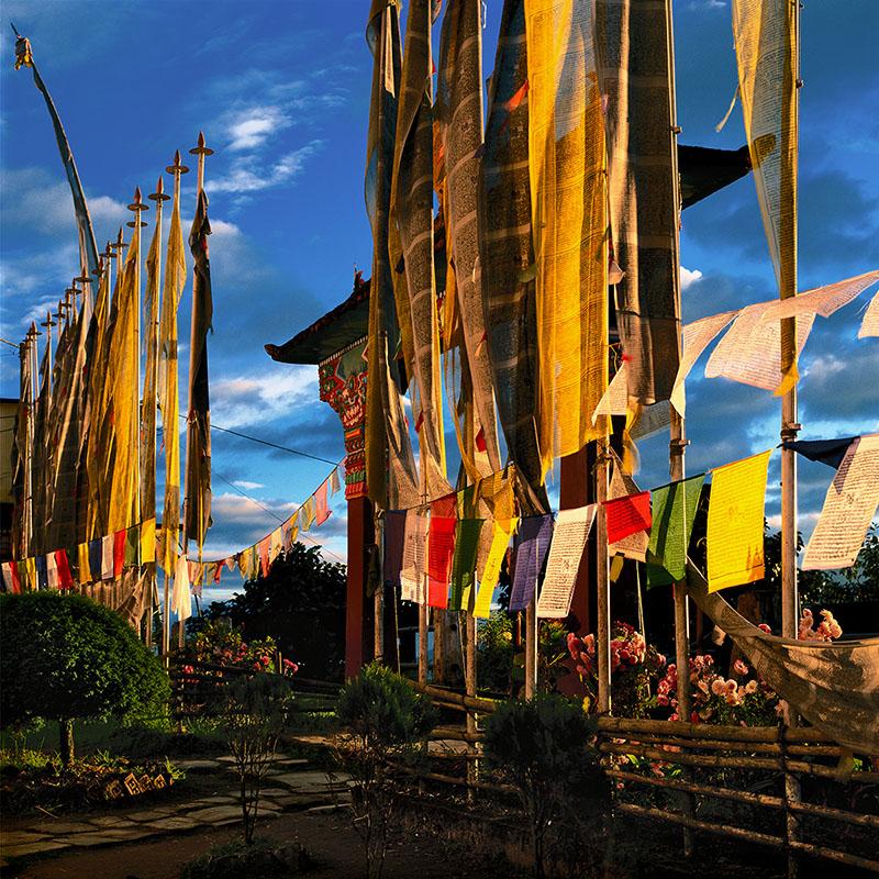 Entrée du monastère de Pemayangtsé - Sikkim (Inde)