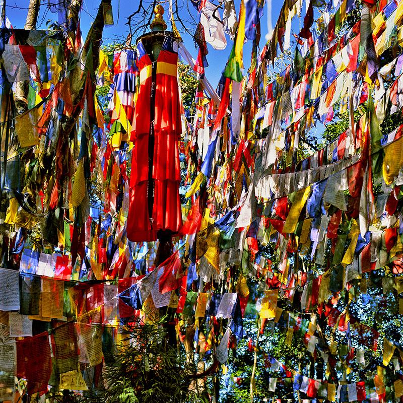 Multitude de drapeaux, Darjeeling – Inde