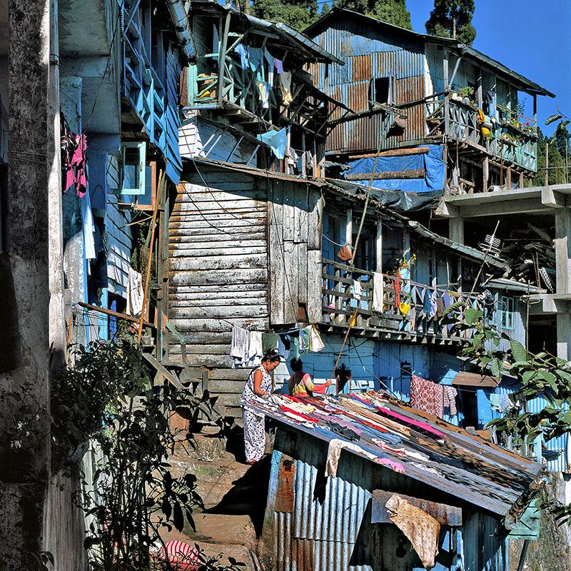 Maisons bleues, Darjeeling – Inde