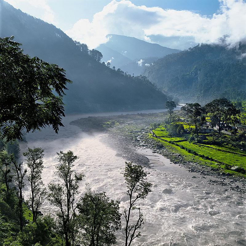 Le Gange en amont d'Uttarkashi – Inde