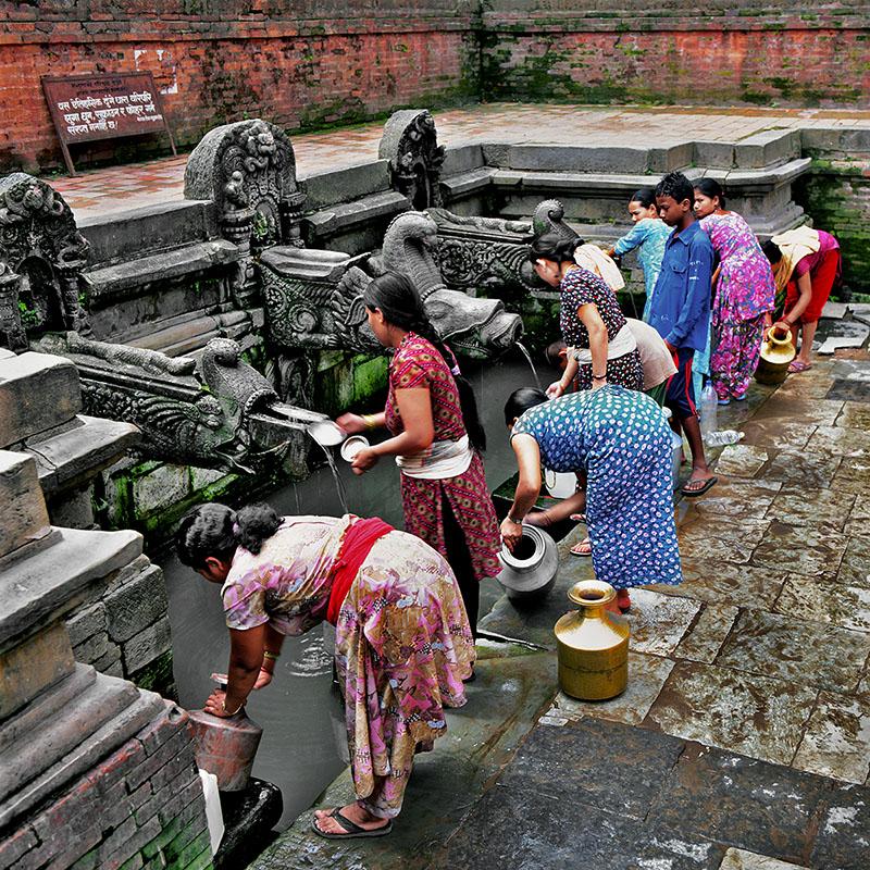 Fontaine publique - Kathmandu, Nepal