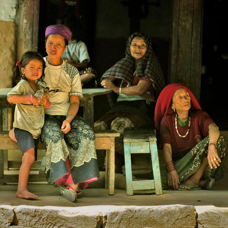 Scènes de la vie quotidienne - Marpha, Kali Gandaki (Nepal)
