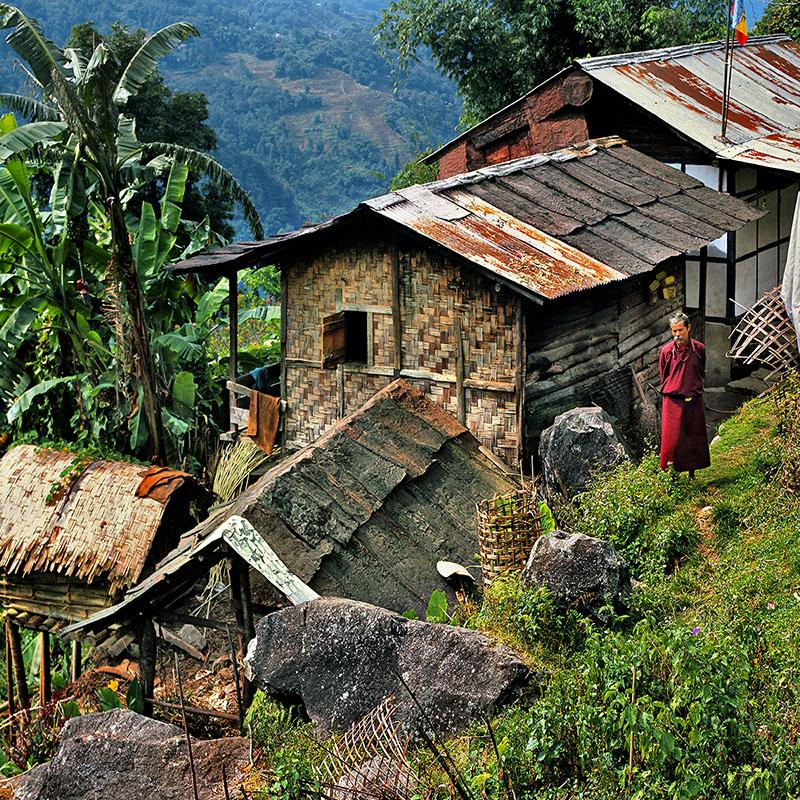 Habitation du Sikkim (Inde)
