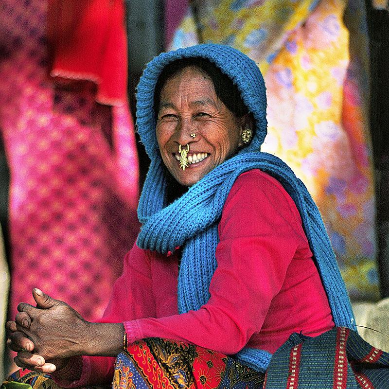 Franc sourire et boucle de nez - Lachung, Sikkim (Inde)