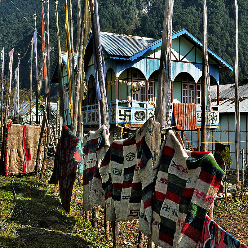 Maison typique du Sikkim (Inde)