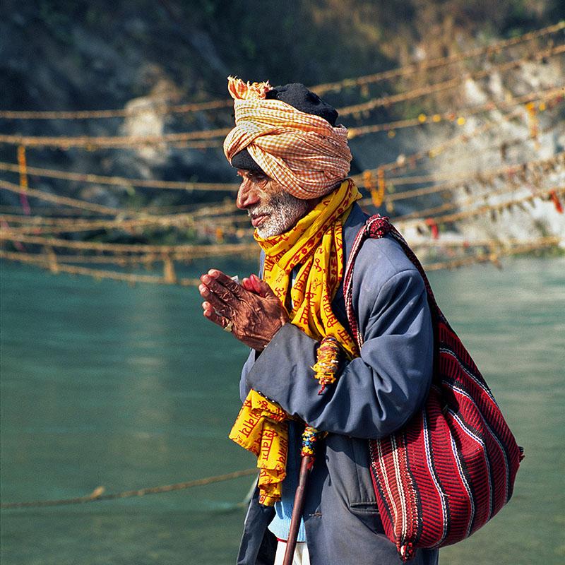 Pèlerin - Devghat (Népal)