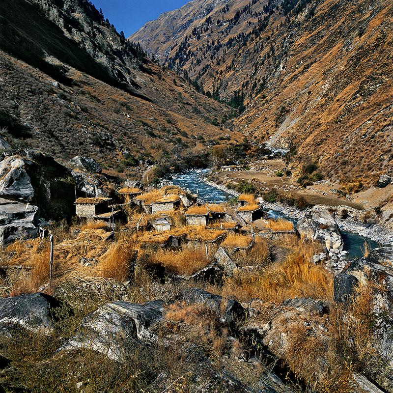 Village d'hiver des habitants de Ringmo, Bas Dolpo (Nepal)