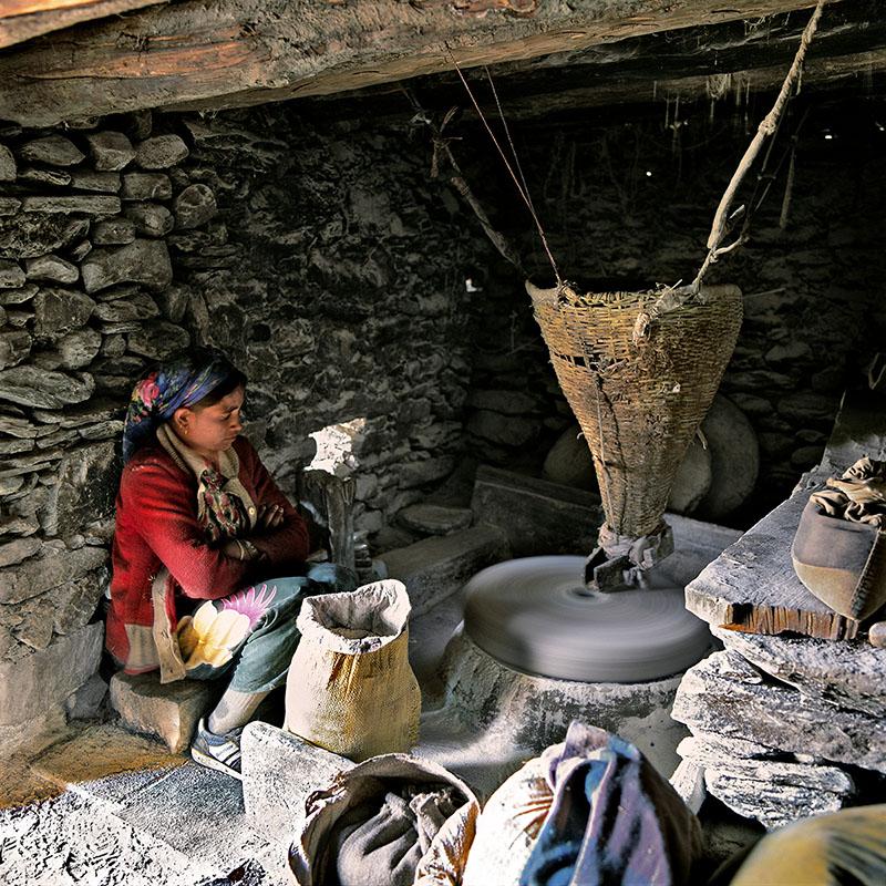 Moulin à eau traditionnel - Dolpo (Népal)