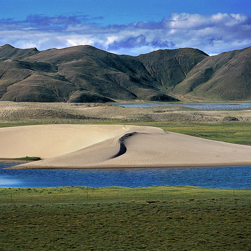 Dune de la région de Thöling - Tibet occidental
