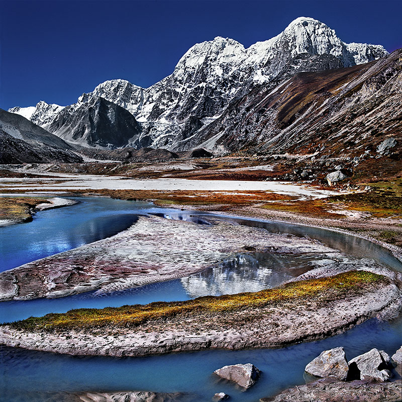 Près du glacier du Phurbi Chyachu, 6627 m - Région de Nyalam – Tibet