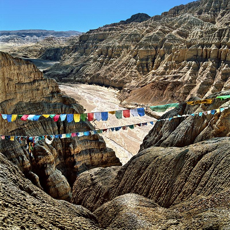 Vue du sommet du palais - Tsaparang, Tibet