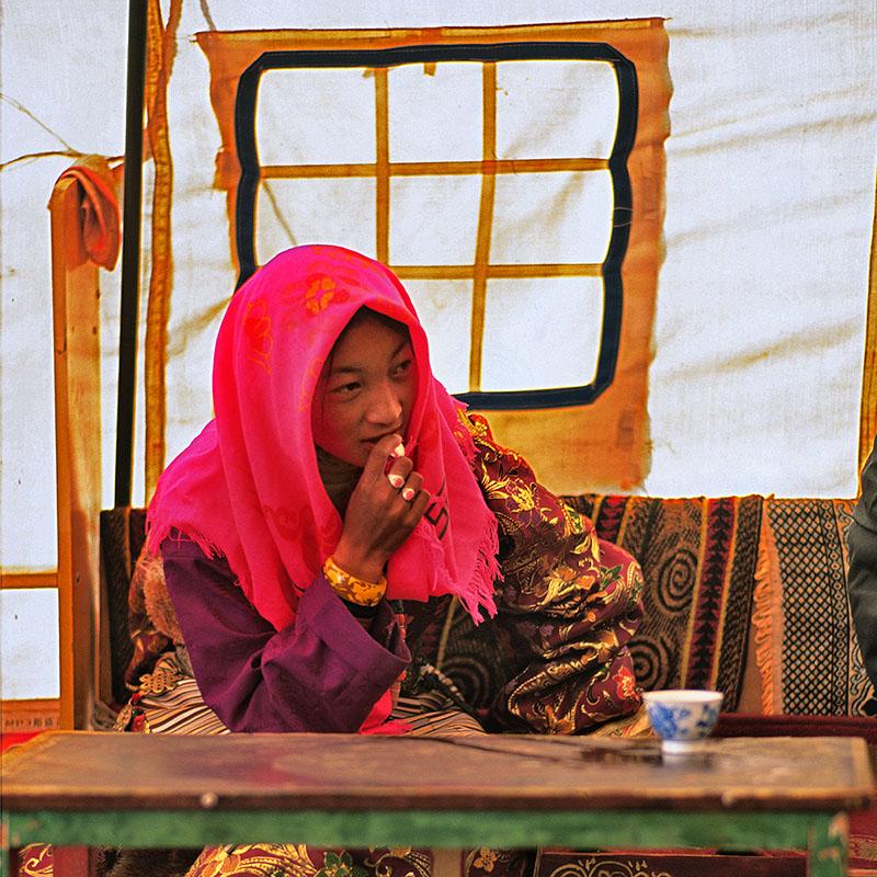 Jeune tibétaine de la région de Paryang – Tibet
