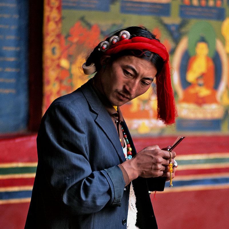 Pèlerin du Kham venu au monastère de Shigatse – Tibet